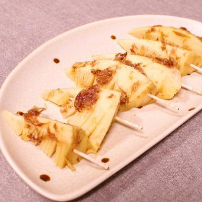 レンジで簡単!土佐煮風タケノコのおつまみピンチョス