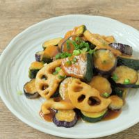 梅シロップで野菜の南蛮炒め