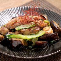 鶏肉とナスのザーサイ中華炒め