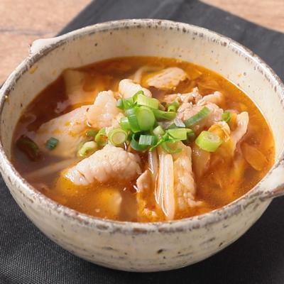豚キムチの簡単スープ