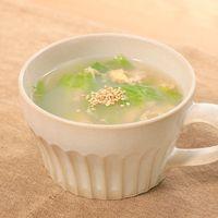 レタスと卵のふわふわ中華スープ