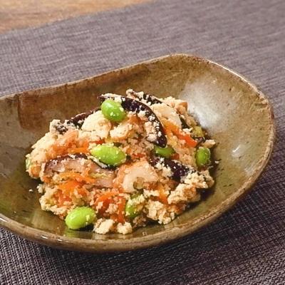 具だくさん 粉豆腐の五目炒り煮