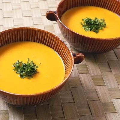 ミキサーなしで作る かぼちゃスープ