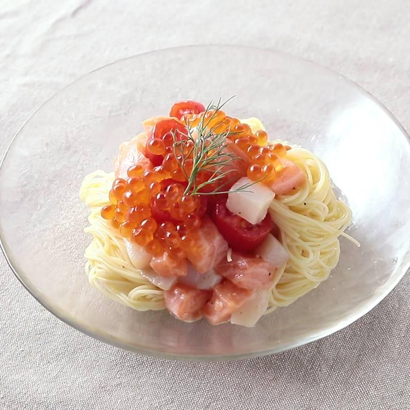 魚介の冷製レモンパスタ レシピ・作り方