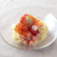 魚介の冷製レモンパスタ