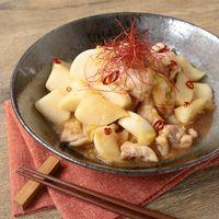 カブと鶏肉のピリ辛中華炒め