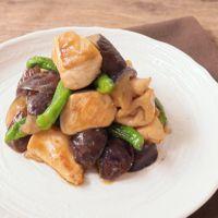 鶏むね肉と野菜の甘辛からし炒め