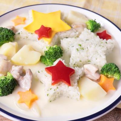 簡単かわいい レンジで作るクリームシチュー