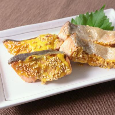 生鮭の黄身酢焼き