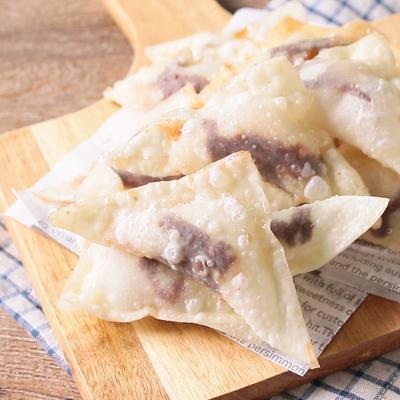 ワンタンの皮で マシュマロチョコパイ