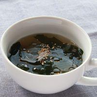 ごま油香る 中華風わかめスープ