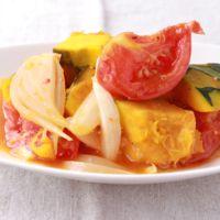 レンジで簡単 かぼちゃとトマト煮