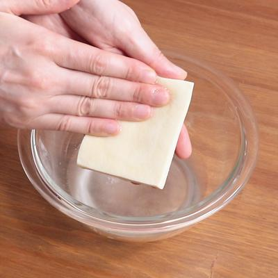 高野豆腐の戻し方②