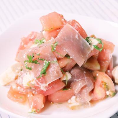 さっぱり!豆腐とトマトの大葉サラダ