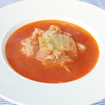 簡単あったか 白菜とろとろトマトスープ