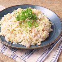 ひき肉とキャベツの塩そば飯