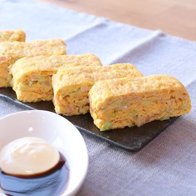 紅生姜で卵焼き