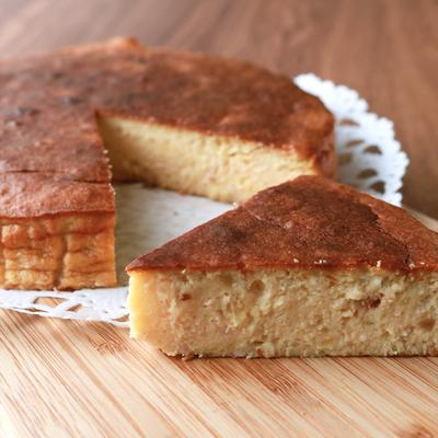 バナナとヨーグルトのあっさりチーズケーキ