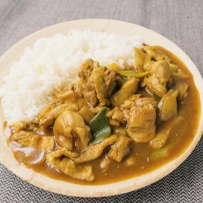 鶏もも肉と長ねぎの和風カレー