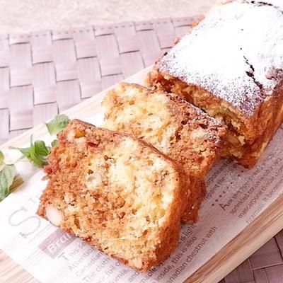 アーモンドキャラメルのパウンドケーキ