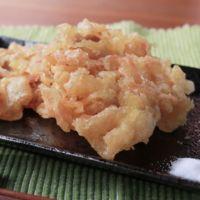 豚バラ肉と紅生姜のかき揚げ