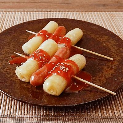 韓国屋台の味 チーズ入りライスペーパーでソトック風