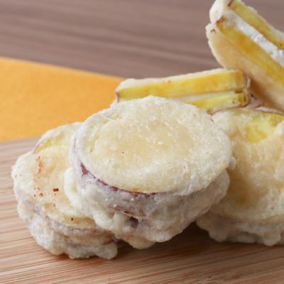 クリームチーズインさつまいも天ぷら