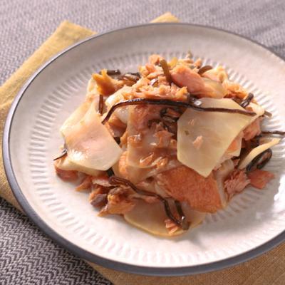 カブと鮭の簡単炒め