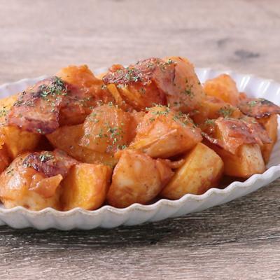 トマトケチャップを使った 新じゃがの簡単煮物