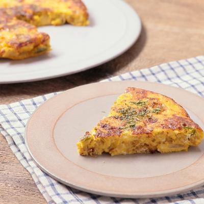 チーズカレー風味のスパニッシュオムレツ