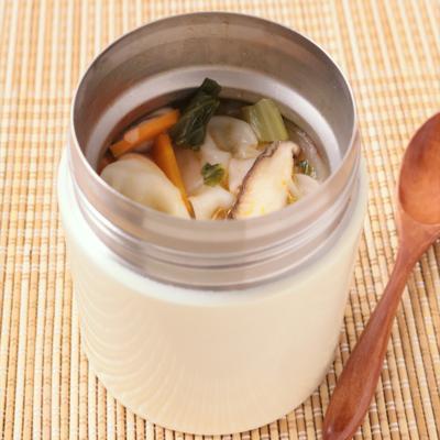 スープジャーで酸辣ワンタン春雨スープ