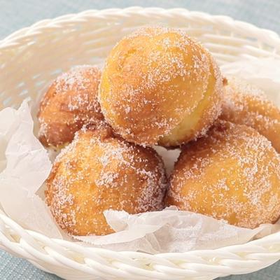 ホットケーキミックスで もっちりマラサダ風ドーナッツ