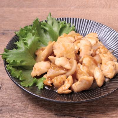 ささみと玉ねぎの生姜焼き