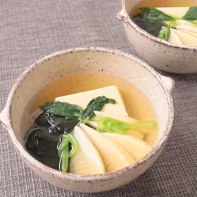 たまご豆腐の若竹汁