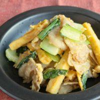 高野豆腐と豚肉の卵炒め
