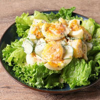 ごろごろ卵のエビマヨサラダ