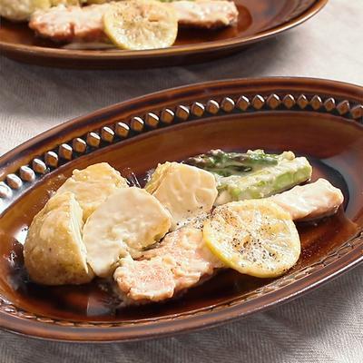 手作りレモンクリームで 鮭とポテトのクリーム煮