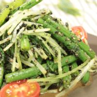 青野菜の黒ゴマ和え