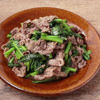 かき菜と牛肉のオイスター炒め
