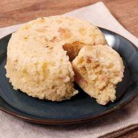 ハムとチーズのお豆腐蒸しパン