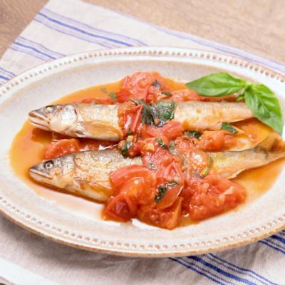 イタリアンな香り 鮎のトマトバジルソテー