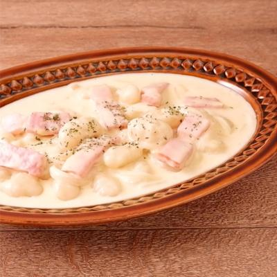 コーンスープで簡単 もちもちニョッキ