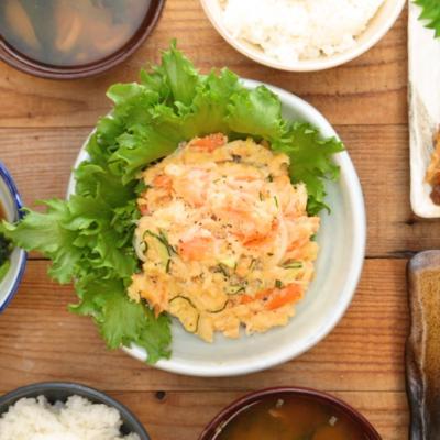 レンジで簡単 鮭のポテトサラダ
