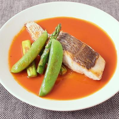 お手軽アメリケーヌソースで 白身魚のソテー