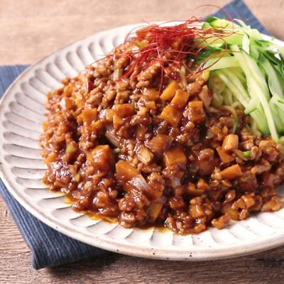 タケノコたっぷり ピリ辛ジャージャー麺