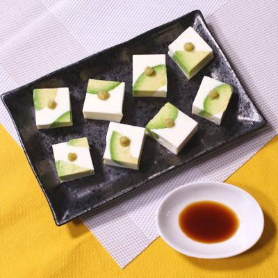 なめらか食感 アボカドクリームチーズ豆腐