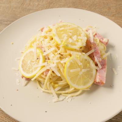 チーズたっぷり レモンのクリームスパゲティ