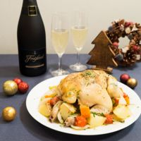 フレシネと一緒に!鶏のシチリア風オーブン焼き