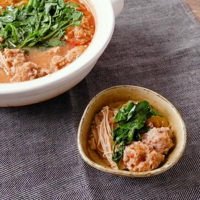 肉団子のコクうま辛味噌鍋
