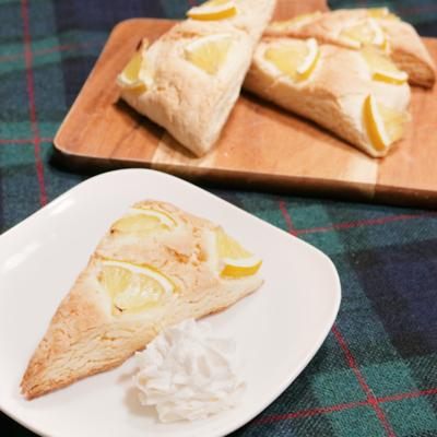 ホットケーキミックスで レモンスコーン